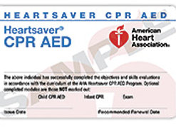 Heartsaver® CPR AED Course Completion Card with book
