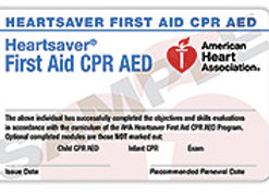 Heartsaver® Firstaid/CPR Course Completion Card with book