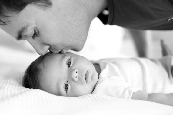 Newborn and dad
