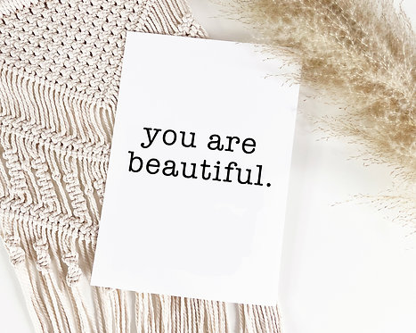"""Poster """"Your are beautiful"""""""