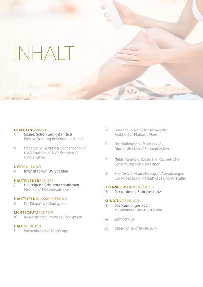 Kosmetik Akademie Engel Haut- und Sonnenschutz