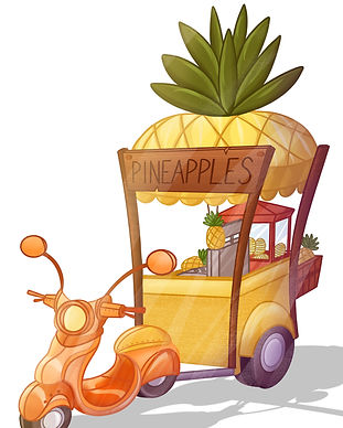 props pineapple cart turnaround_color.jp