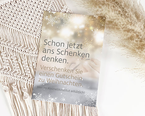"""Poster """"Schon jetzt ans Schenken denken"""""""