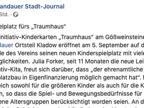 Unser neuer Spielplatz: Bericht vom Spandauer Stadt-Journal