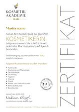 Kosmetik Akademie Engel Bild Zertifikat Ausbildung Kosmetikerin