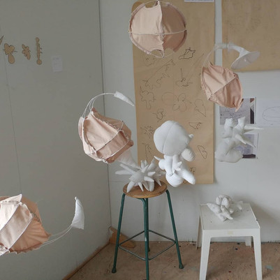 Maquettes of sculptural armatures and other experiments