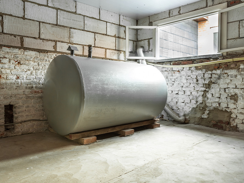 an oil tank that can be dangerous to have on your property