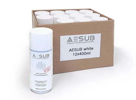 AESUB White Scanning Spray 12 Cans