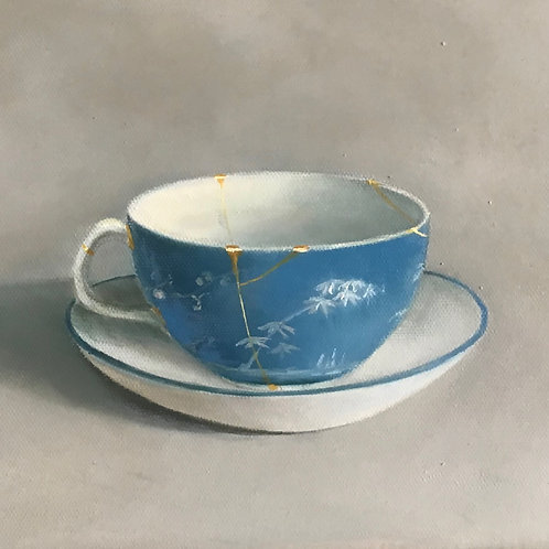 Blue and white China tea cup
