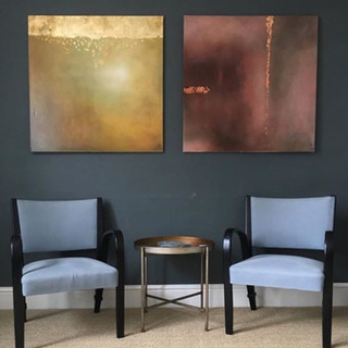 Copper and Gold Abstract