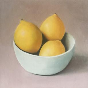 Three Lemons in a bowl
