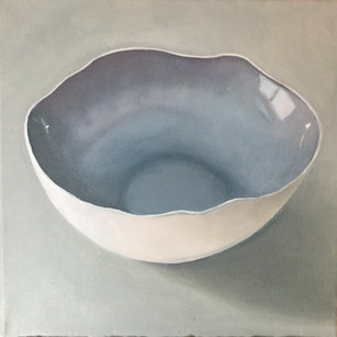 Blue eggshell bowl