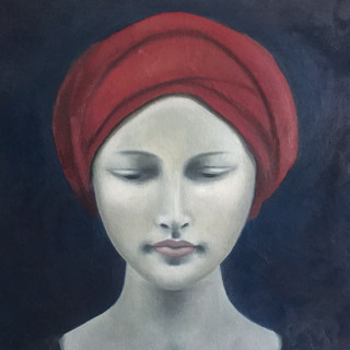 Girl with red turban
