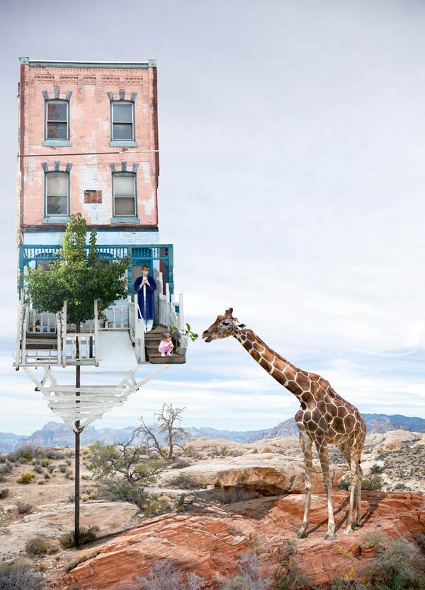 honey, the giraffe is back