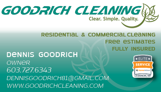 Goodrich Cleaning Business Card