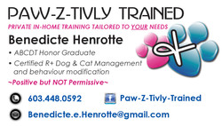 Paw-Z-Tivly Trained Business Card