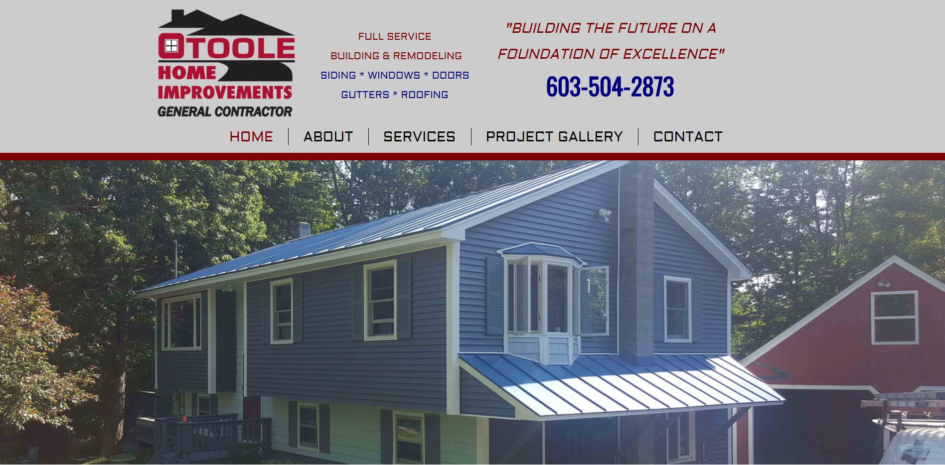 O'toole Home Improvements Website