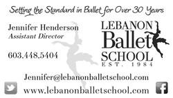Lebanon Ballet School Business Card
