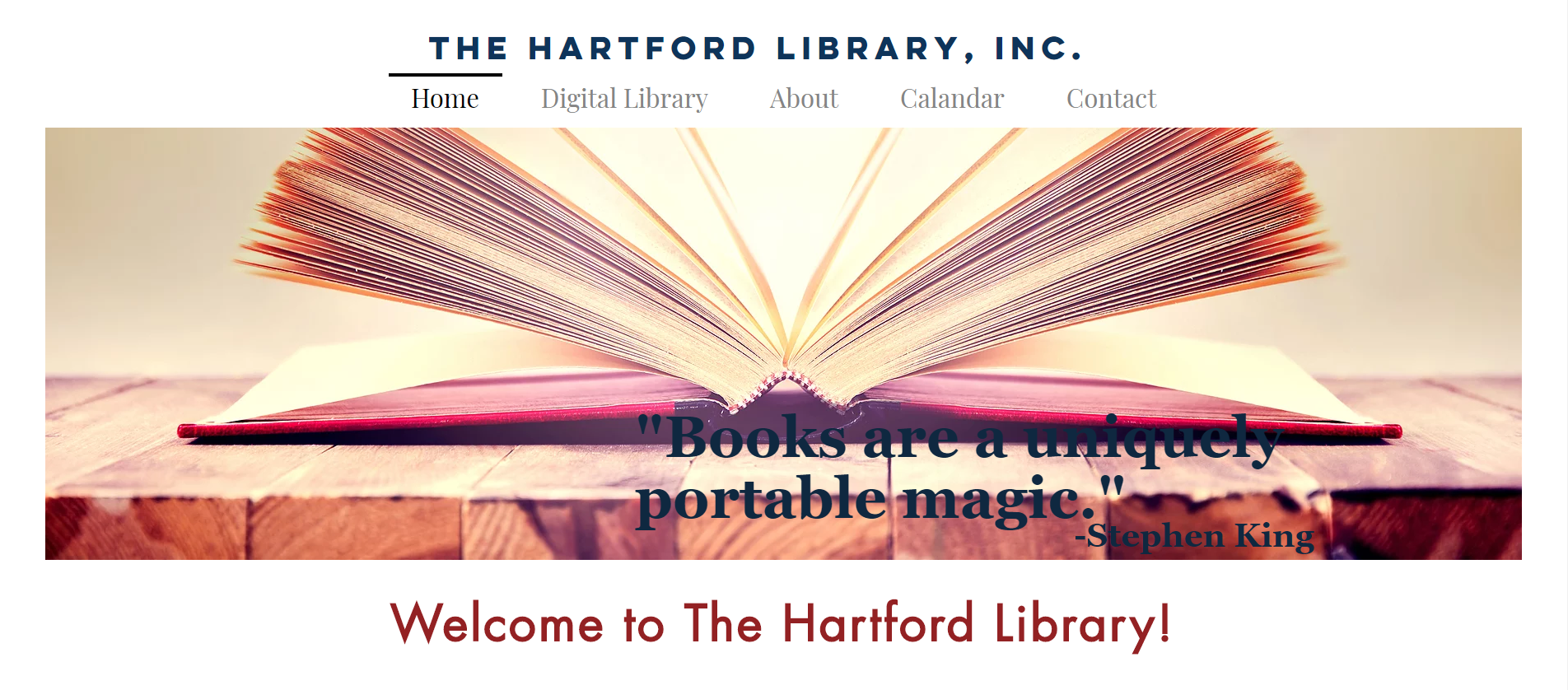 Hartford Library Website