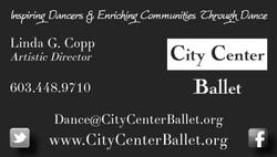 City Center Ballet Business Card