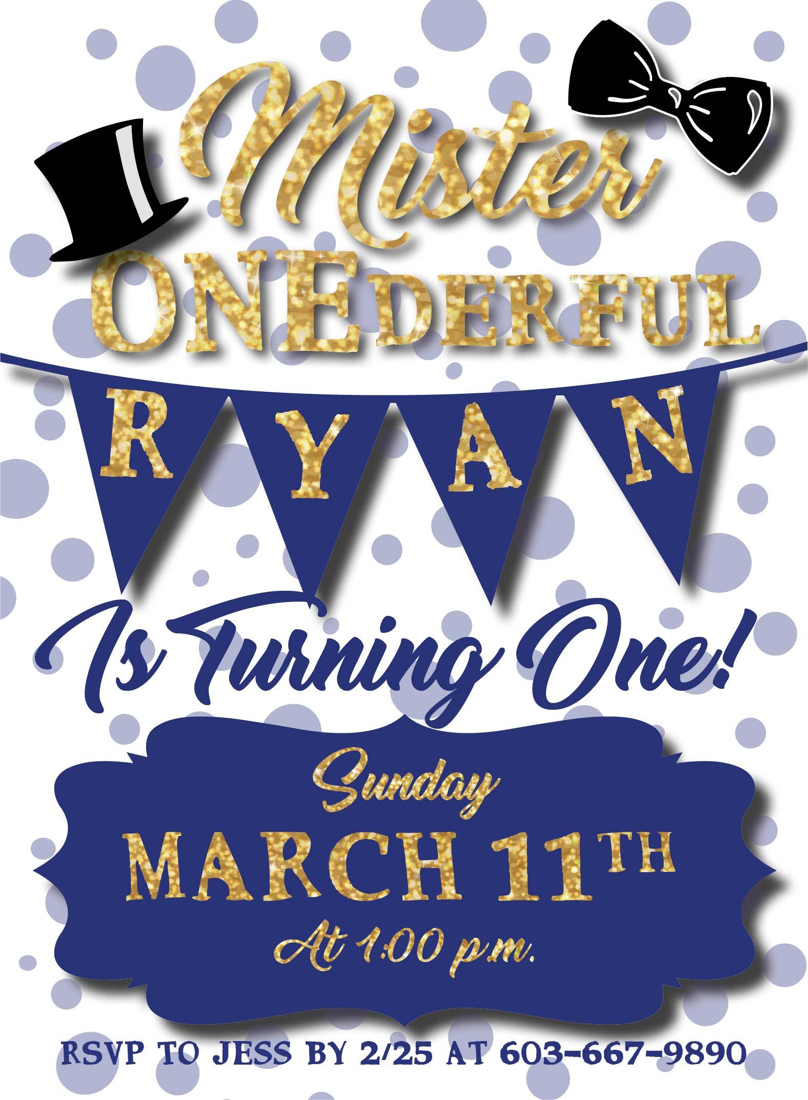 Mr. ONEderful Invitation