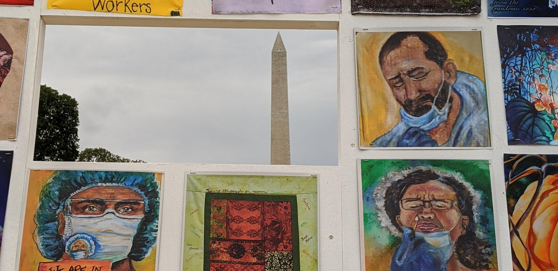 """Washington Monument through the """"P"""""""