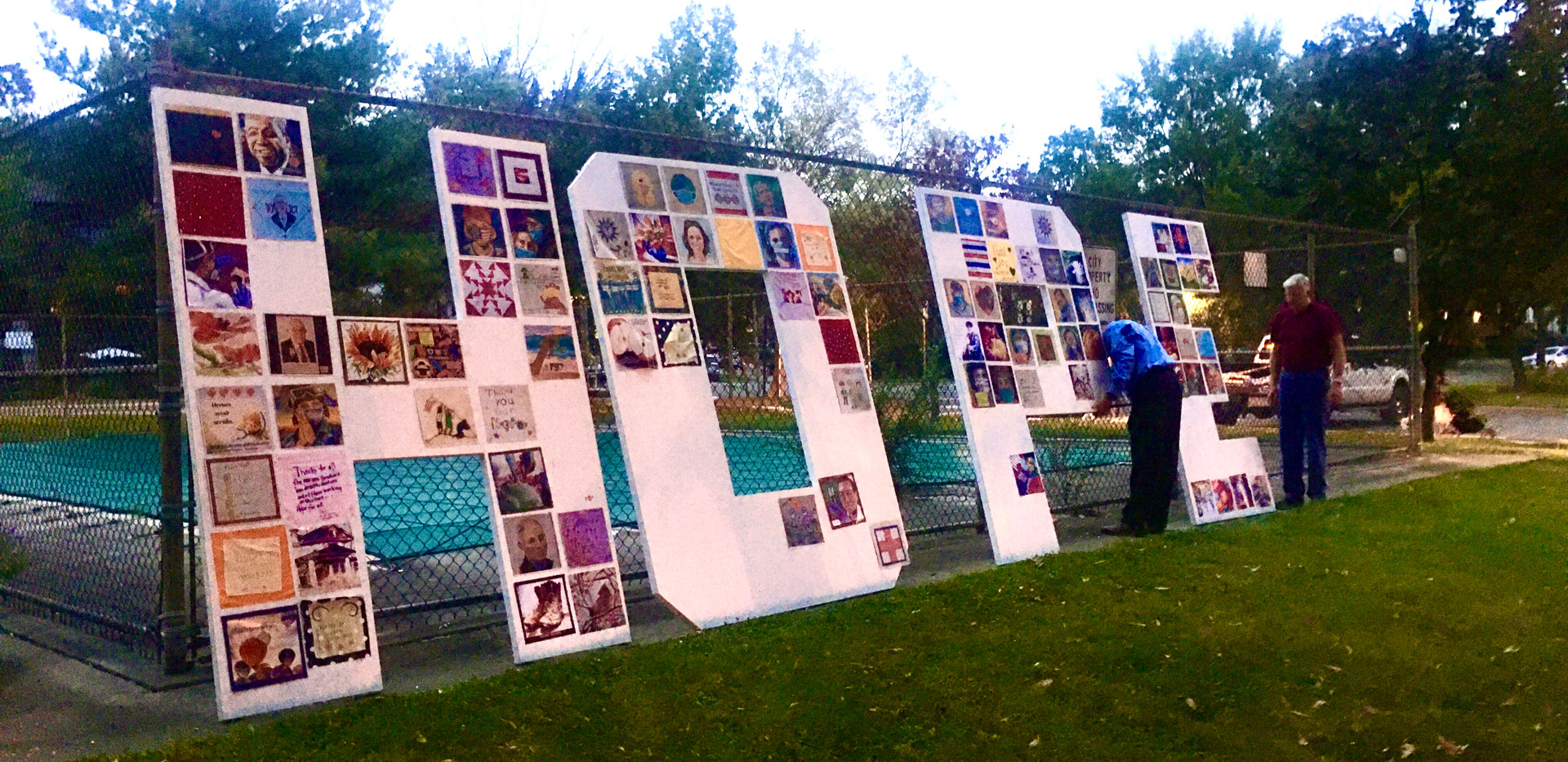 Installing the Letters of HOPE in Alexandria