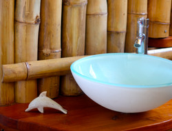 Bamboo clad showers