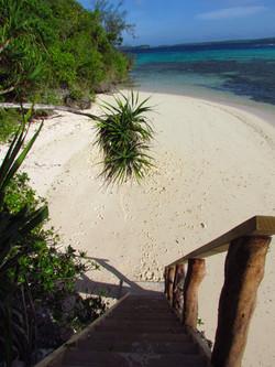 Steps down to Beach House beach
