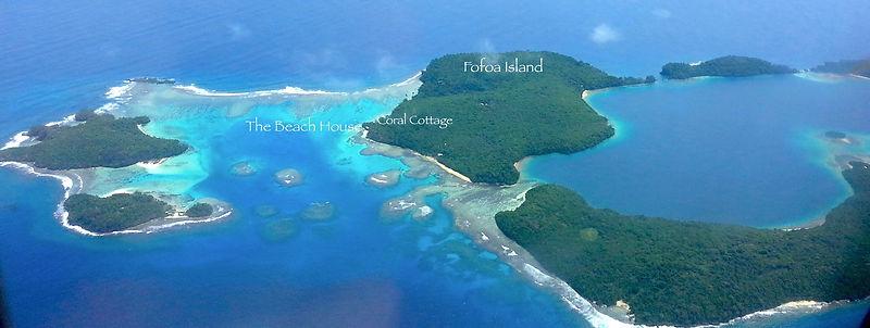 Fofoa Island and the blue lagoon, Vava'u, Tonga
