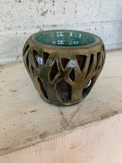 Double walled forest vase