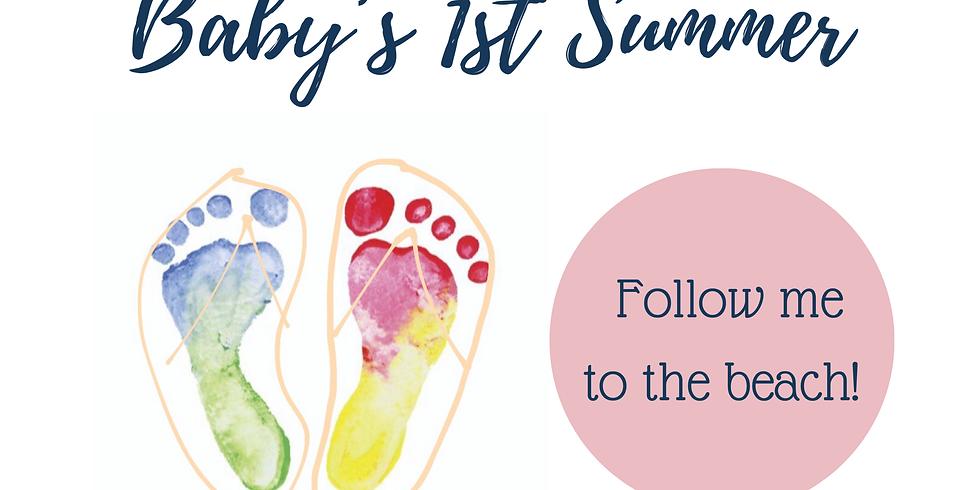 Baby's 1st Summer Footprint Craft