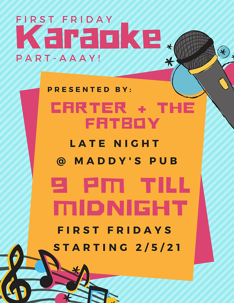 Illustration Karaoke Dinner Party Menu.p