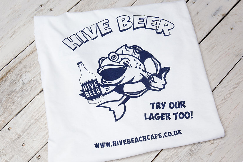 Sale! Hive Beer T-shirt - white