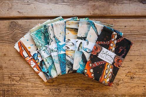 Linen Tea Towels by Dollyhotdogs