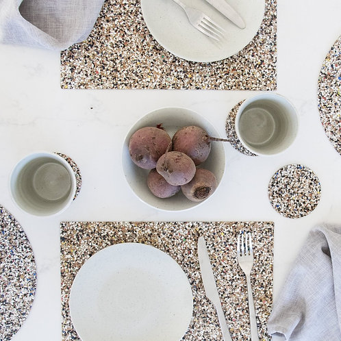 Beach Clean Rectangular Placemat Set