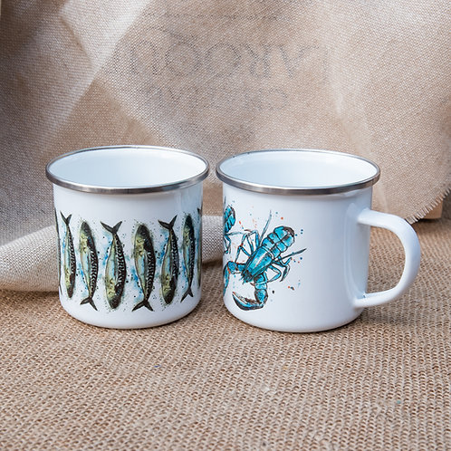 DollyHotDogs Tin mug