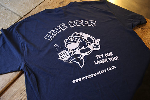 Hive Navy Beer T-Shirt