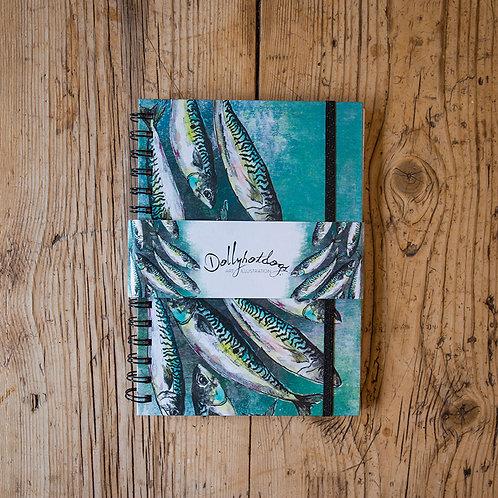 Dollyhotdogs spiral bound notebook