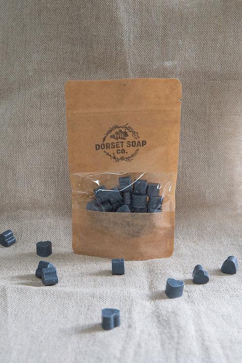 Mini Heart Charcoal, Peppermint & Himalayan Salt Soaps