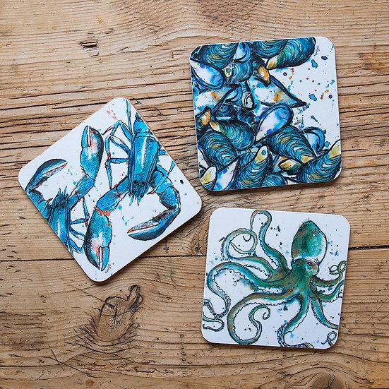 Coasters from Dollyhotdogs