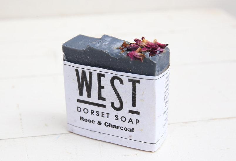 West Dorset Soap Rose & Charcoal