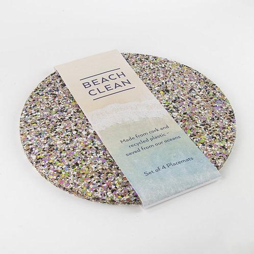 Beach Clean Round Placemat Set