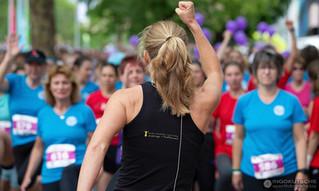 Warm up für den Challenge Frauenlauf Heilbronn