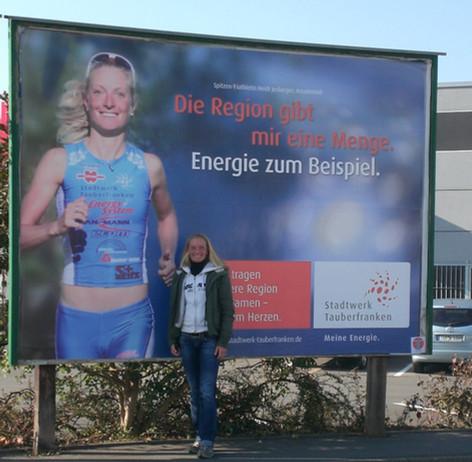 Unternehmen der Region Tauberfranken haben mich als Sportlerin der Region viele Jahre unterstützt :-)