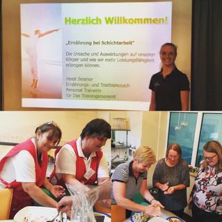 Vortrag und Workshop zur Ernährung bei Schichtarbeit