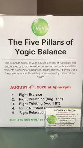 Teesha Talk Tuesday: The Five Pillars of Yogic Balance