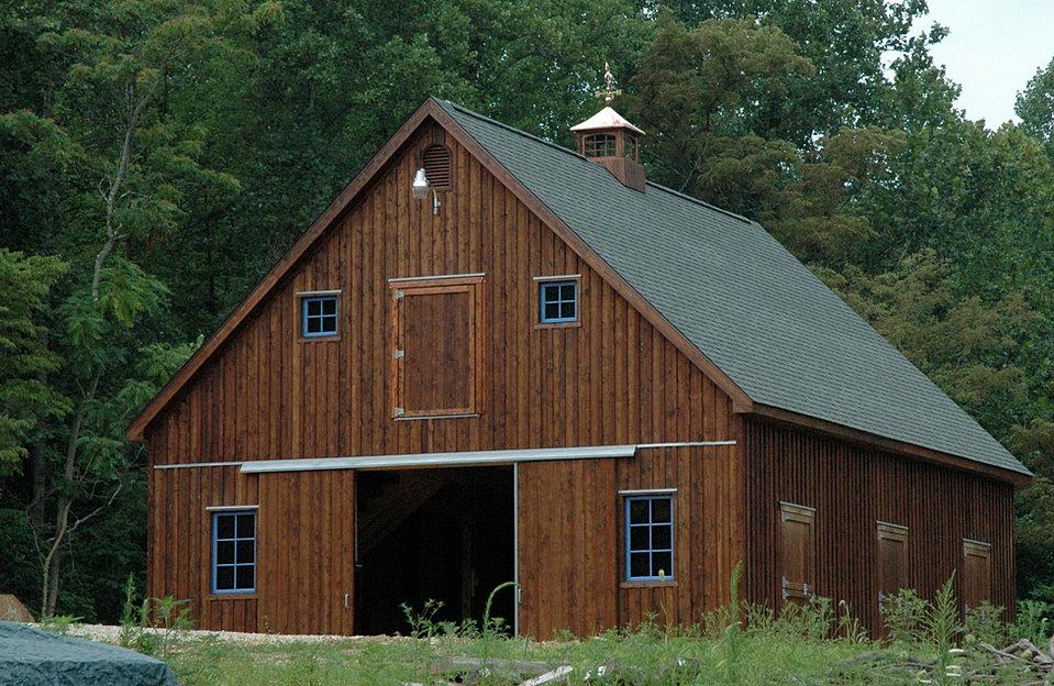 Virginia barn company pole barn builder va for 12x10 garage door