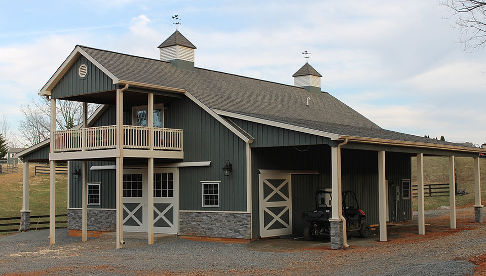 36x48x12 Horse Barn With Porch