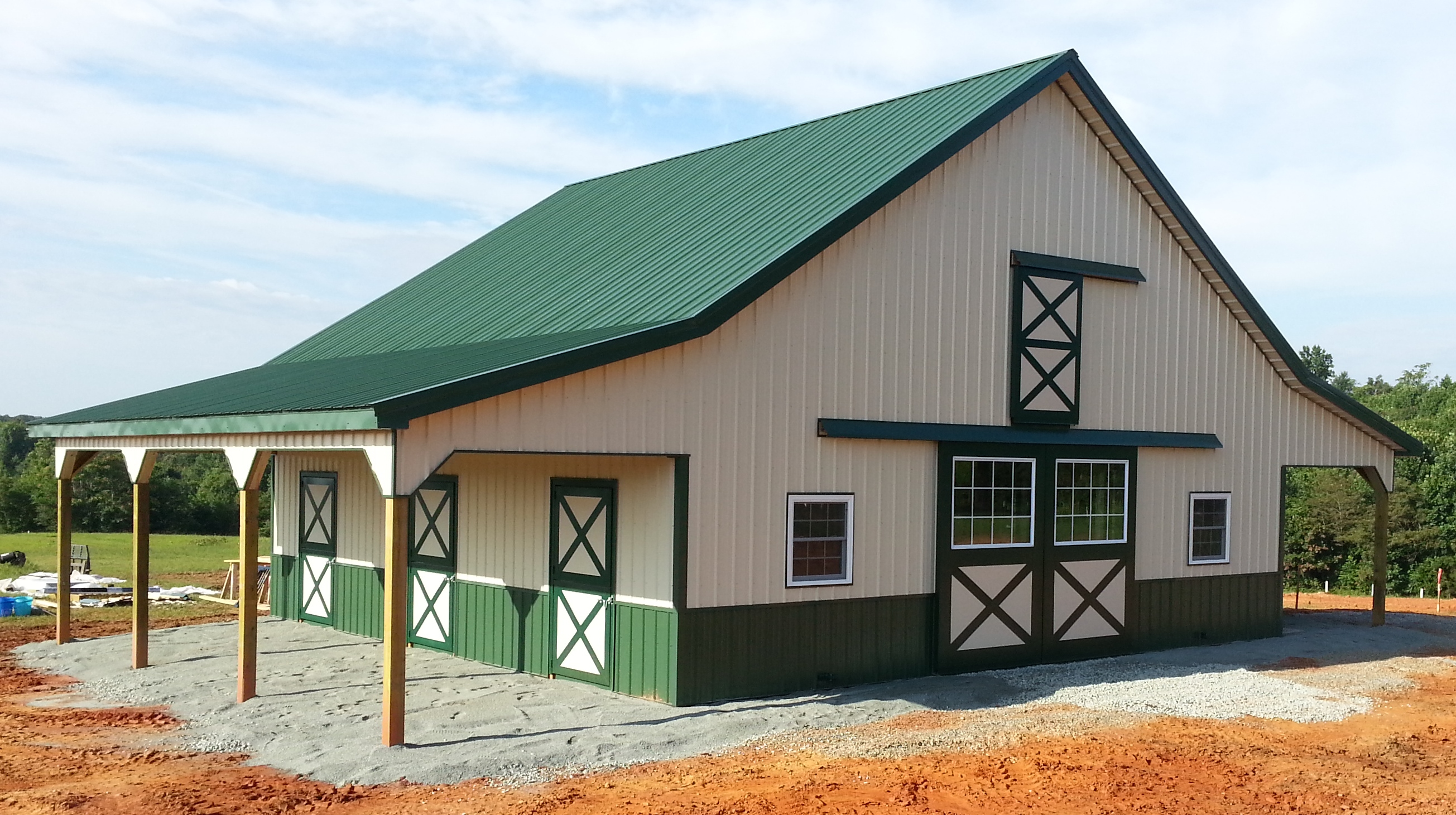 Virginia barn company pole barn builder va for Horse barn prices and plans